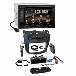 Kenwood SiriusXm Bluetooth Dash Kit Integrated Climate Control for Honda Accord
