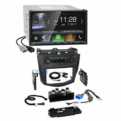 Kenwood Carplay Bluetooth Dash Kit Integrated Climate Control for Honda Accord