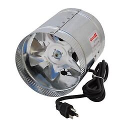 LEDwholesalers GYO2402 6-Inch 240 CFM Air Duct Inline Hydroponic Booster ... New