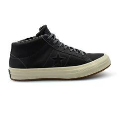 Converse One Star Mid Counter Climate Dark Grey Nubuck Mens Trainers New 158833C