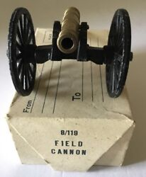 Vintage Cast Iron And Brass Field Cannon Made In Japan W/ Box Fort Jackson