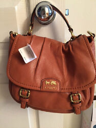 Coach Cognac Bag with Removable Strap.  New with tags.  Comes in Gift Box.