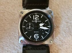 Bell & Ross BR03-94 Chronograph - Steel Case - Black Strap - Excellent Condition