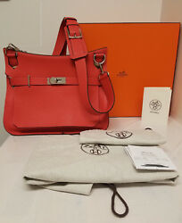 HERMES Orange 34CM JYPSIERE  GYPSY  JYPSY Birkin Messenger & Cross Body Bag