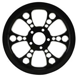 Ultima Black Cut Kool Kat Pulley 1.5 Wide 65 Tooth 99and039- Earlier And 00and039- Later