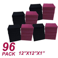 Usa 96 Pack 12x12x1 Acoustic Foam Panel Wedge Studio Soundproofing Wall Tiles