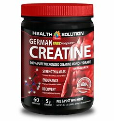 Pre Workout 60 Servings German Monohydrate Creatine 300g Energy Booster 1b