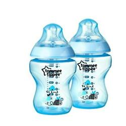 Baby Feeding Count 2 Tommee Tippee Bottles Boy Deco 9 Ounce (Discontinued By Man
