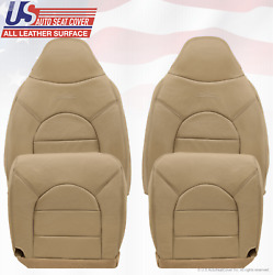 1999 Ford F250 F350 F450 Lariat Front 2x Tops 2x Bottoms Leather Seat Covers Tan