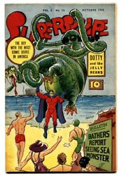 Supersnipe Vol. 2 11 1945 Sea Monster Cover-boy With Most Comic Books-vf/nm