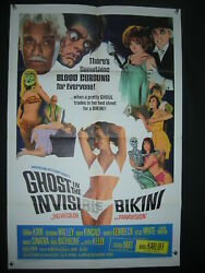 Ghost In Invisible Bikini-tommy Kirk-27x41-orig Poster G/vg