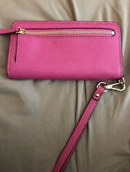 Michael Kors Hot Pink Phone Case Wallet Wristlet  fits iPhone 6 6s Galaxy S4