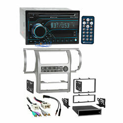 Planet Audio Bluetooth USB Stereo Silver Dash Kit Harness for 03+ Infiniti G35