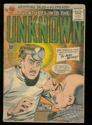 Adventures Into The Unknown 80 1957-mad Doctor A-bomb G