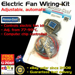 New Perma-Cool Electric Thermo Fan Wiring Kit Adjustable Temp Control Permacool