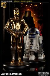 Sideshow Exclusive C-3po And R2d2 Premium Format Figure Set Statue Star Wars