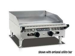 American Range Aemg-24 24andrdquo Heavy Duty Manual Griddle With Stainless Steel