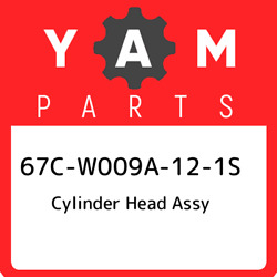 67c-w009a-12-1s Yamaha Cylinder Head Assy 67cw009a121s, New Genuine Oem Part