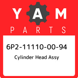 6p2-11110-00-94 Yamaha Cylinder Head Assy 6p2111100094 New Genuine Oem Part