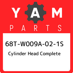 68t-w009a-02-1s Yamaha Cylinder Head Complete 68tw009a021s New Genuine Oem Part
