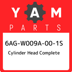 6ag-w009a-00-1s Yamaha Cylinder Head Complete 6agw009a001s New Genuine Oem Part