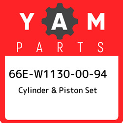 66e-w1130-00-94 Yamaha Cylinder And Piston Set 66ew11300094 New Genuine Oem Part