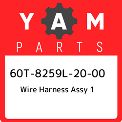 60t-8259l-20-00 Yamaha Wire Harness Assy 1 60t8259l2000 New Genuine Oem Part