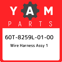 60t-8259l-01-00 Yamaha Wire Harness Assy 1 60t8259l0100 New Genuine Oem Part