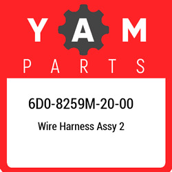 6d0-8259m-20-00 Yamaha Wire Harness Assy 2 6d08259m2000, New Genuine Oem Part