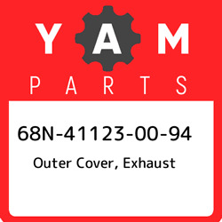 68n-41123-00-94 Yamaha Outer Cover Exhaust 68n411230094 New Genuine Oem Part