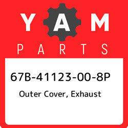 67b-41123-00-8p Yamaha Outer Cover Exhaust 67b41123008p New Genuine Oem Part