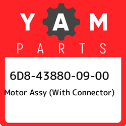 6d8-43880-09-00 Yamaha Motor Assy With Connector 6d8438800900, New Genuine Oem