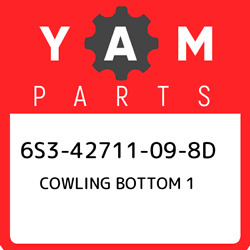 6s3-42711-09-8d Yamaha Cowling Bottom 1 6s342711098d, New Genuine Oem Part