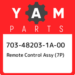 703-48203-1a-00 Yamaha Remote Control Assy 7p 703482031a00 New Genuine Oem Pa