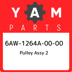 6aw-1264a-00-00 Yamaha Pulley Assy 2 6aw1264a0000 New Genuine Oem Part