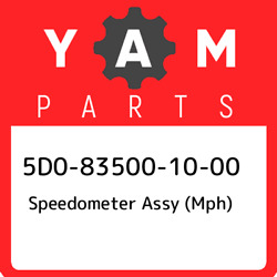 5d0-83500-10-00 Yamaha Speedometer Assy Mph 5d0835001000 New Genuine Oem Part
