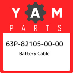 63p-82105-00-00 Yamaha Battery Cable 63p821050000 New Genuine Oem Part