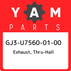 Gj3-u7560-01-00 Yamaha Exhaust Thru-hall Gj3u75600100 New Genuine Oem Part