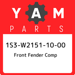 1s3-w2151-10-00 Yamaha Front Fender Comp 1s3w21511000 New Genuine Oem Part