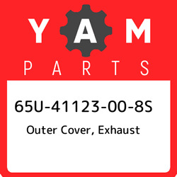 65u-41123-00-8s Yamaha Outer Cover, Exhaust 65u41123008s, New Genuine Oem Part