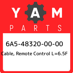 6a5-48320-00-00 Yamaha Cable Remote Control L=6.5f 6a5483200000 New Genuine Oe