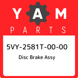 5vy-2581t-00-00 Yamaha Disc Brake Assy 5vy2581t0000 New Genuine Oem Part