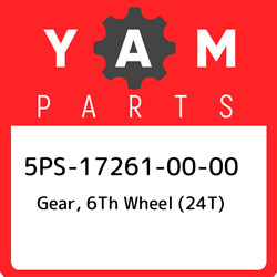 5ps-17261-00-00 Yamaha Gear 6th Wheel 24t 5ps172610000 New Genuine Oem Part