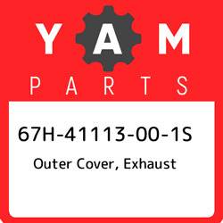 67h-41113-00-1s Yamaha Outer Cover Exhaust 67h41113001s New Genuine Oem Part