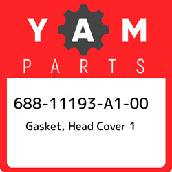 688-11193-a1-00 Yamaha Gasket, Head Cover 1 68811193a100, New Genuine Oem Part