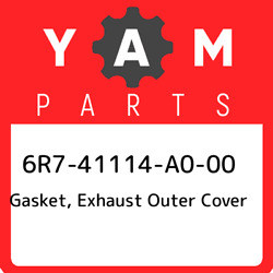 6r7-41114-a0-00 Yamaha Gasket Exhaust Outer Cover 6r741114a000 New Genuine Oem