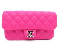 Chanel Matelasse Quilting Caviar Leather CC Chain Flap Shoulder Bag Pink