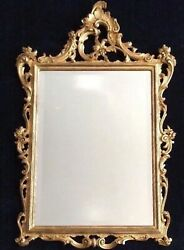 Chinese Chippendale Style Gilt Pier Mirror / Rococo 27 X 43