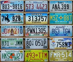 Great Condition American License Plate Various States Texas Utah Colorado Others