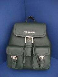 NWT Michael Kors Susie Small Flap Leather Backpack Purse Moss (Green) 35F7GIUB1L